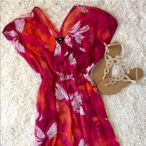 Spring into summer tropical maxi dress